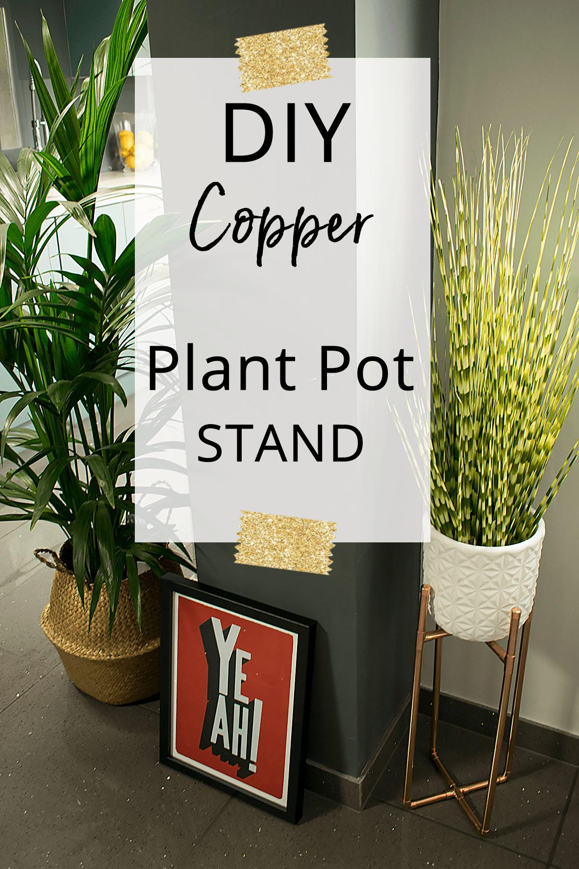 Make Diy Copper Plant Stand Caradise