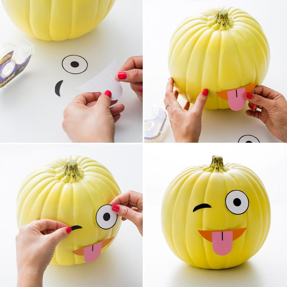 Make Diy Emoji Pumpkins Our Printables Brit