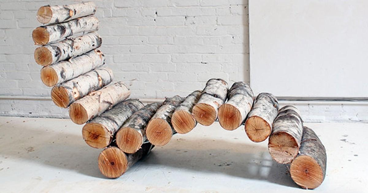 Make Diy Outdoor Log Lounge Chair Curbly