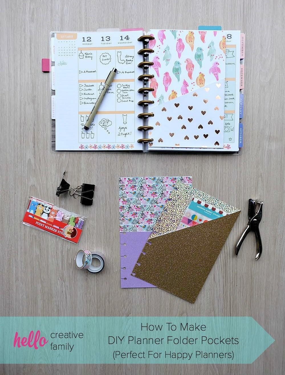 Make Diy Planner Folder Pockets Perfect Happy