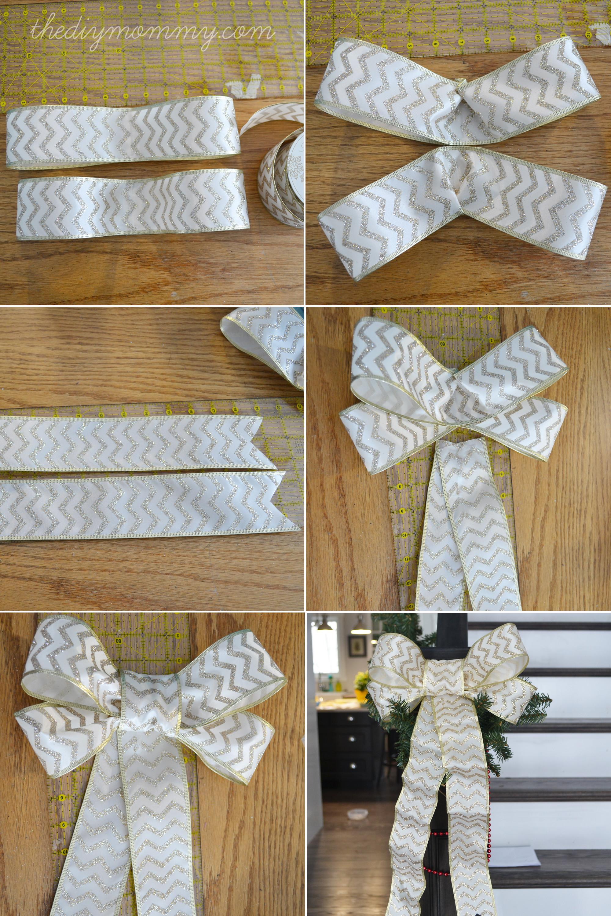 Make Diy Wired Ribbon Bows Mommy