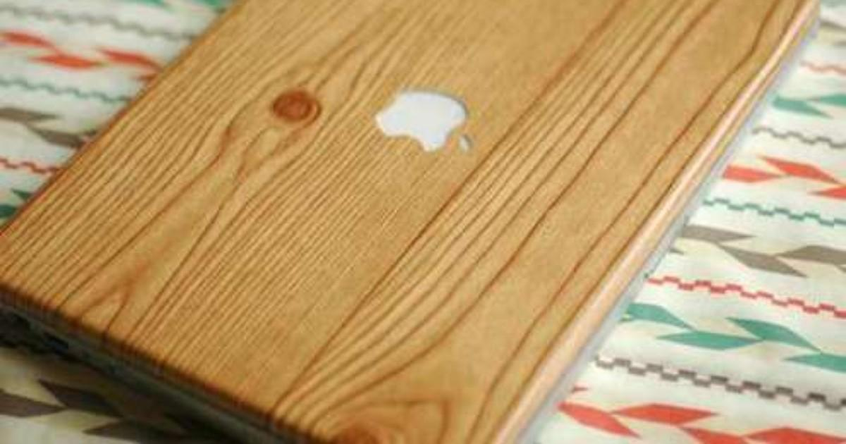 Make Diy Woodgrain Laptop Skin Man Made