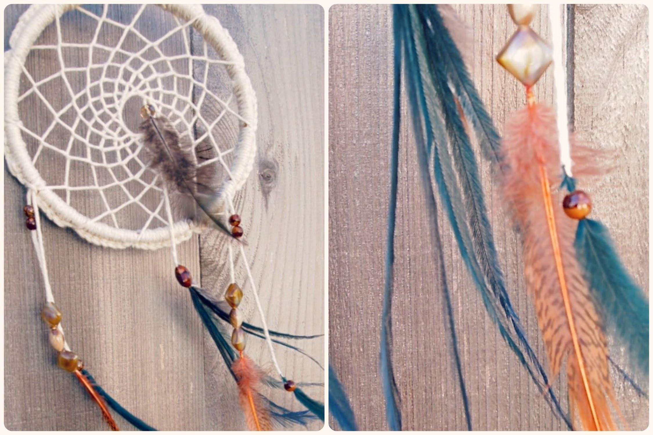 Make Dreamcatcher Crochet Feathers Beads