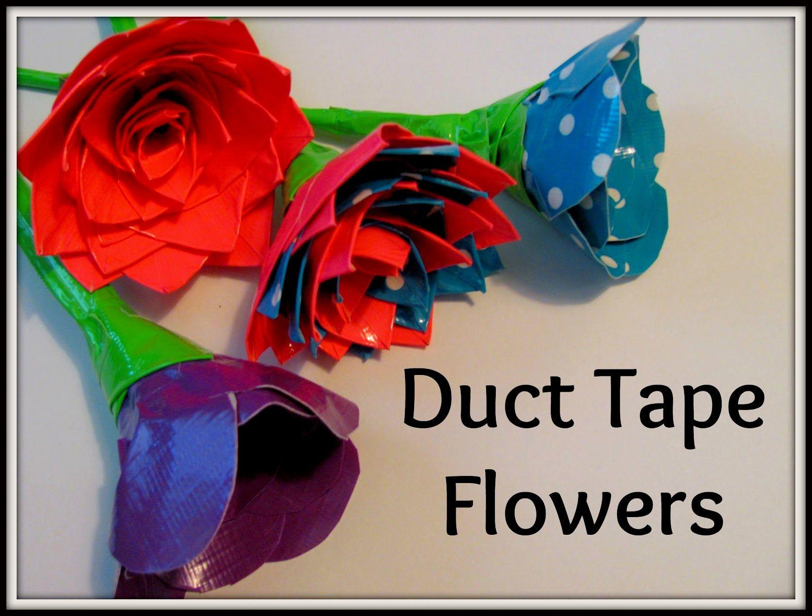 Make Duct Tape Flowers Flower Charms