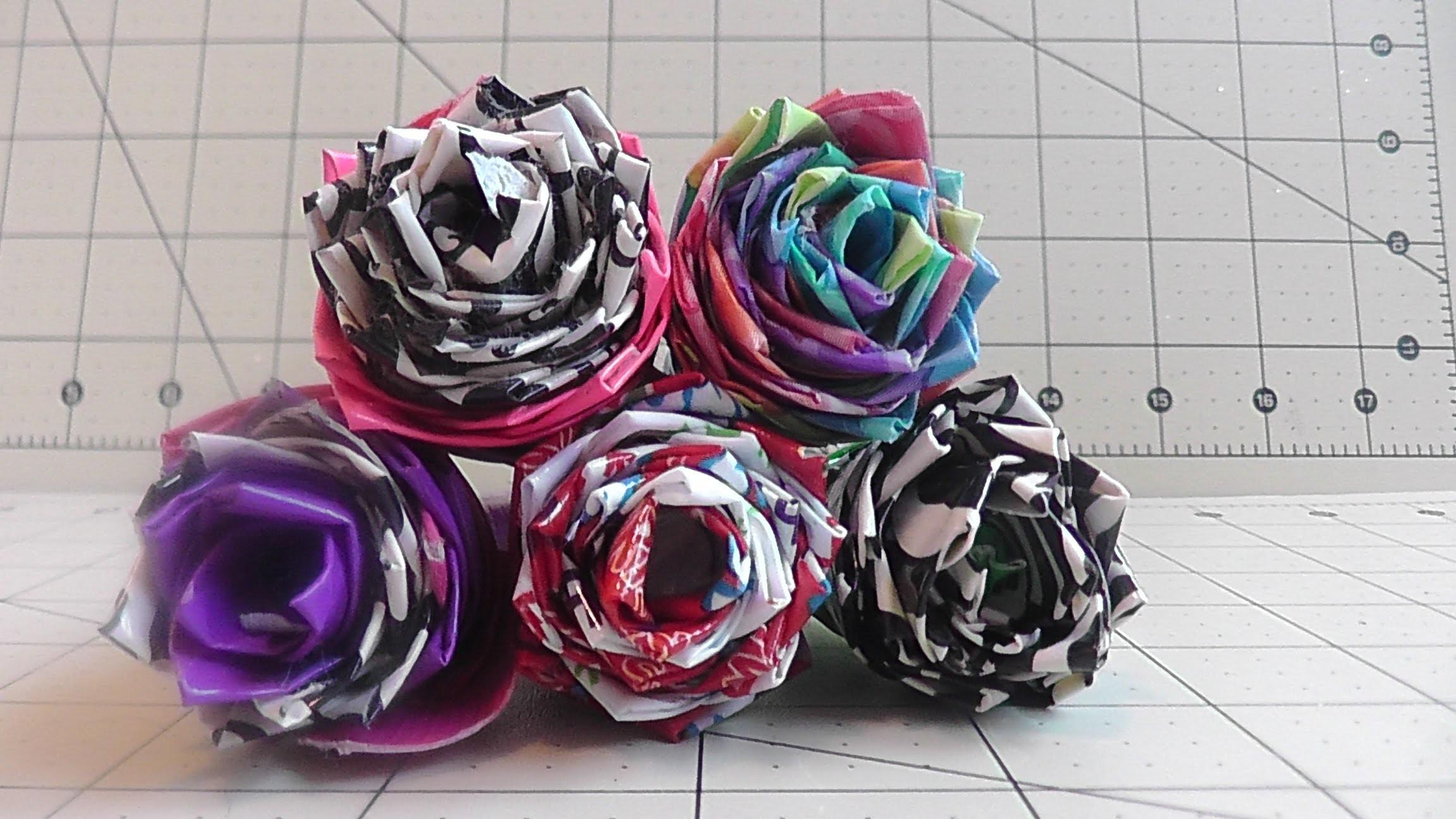 Make Duct Tape Rose Pen Simple Easy