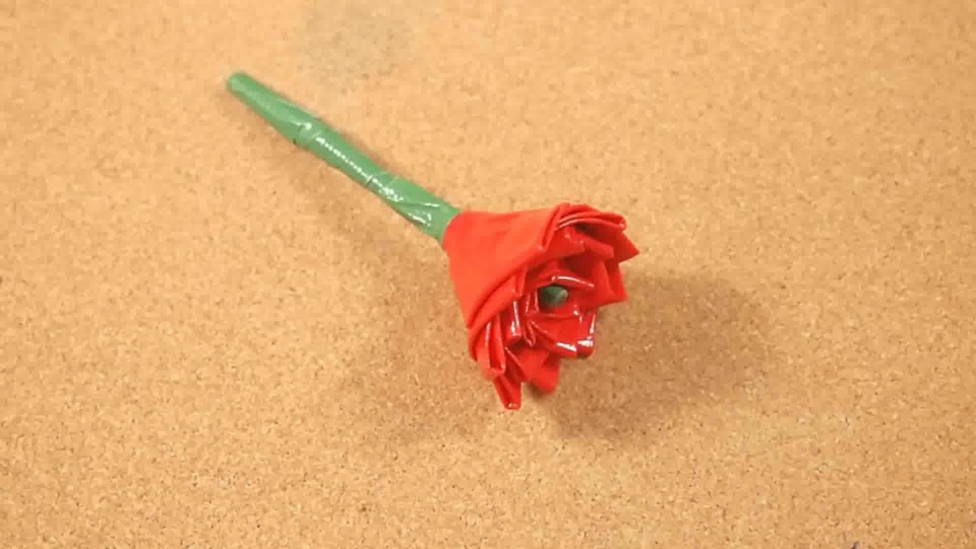 Make Duct Tape Rose Tulip Steps