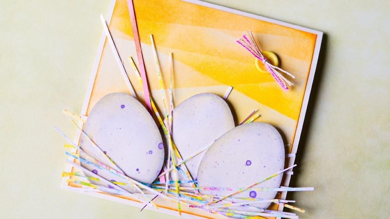 Make Easter Card Eggs Inking Scrapbooking Step