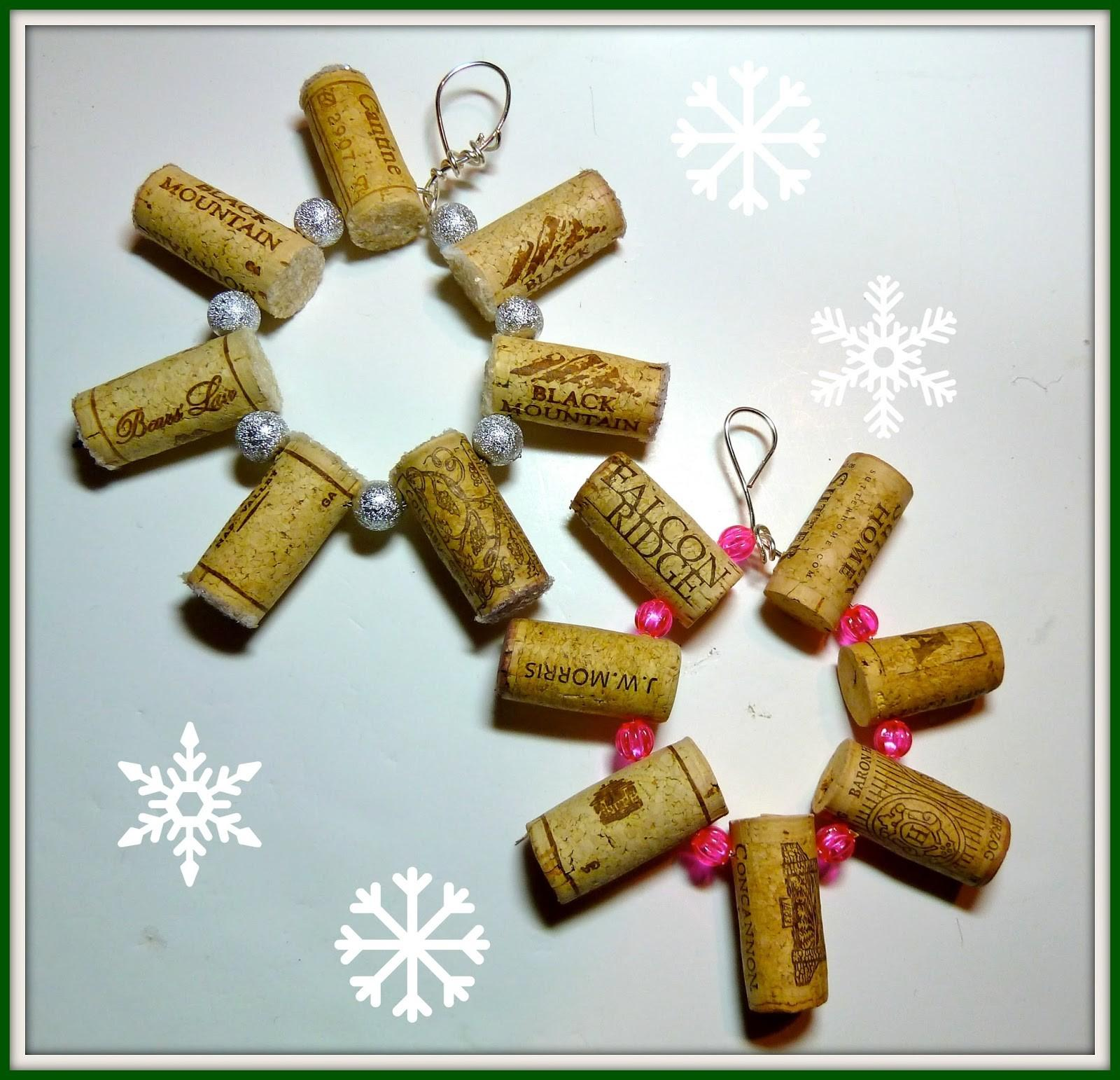 Make Easy Crafts Wine Cork Snowflake Ornament