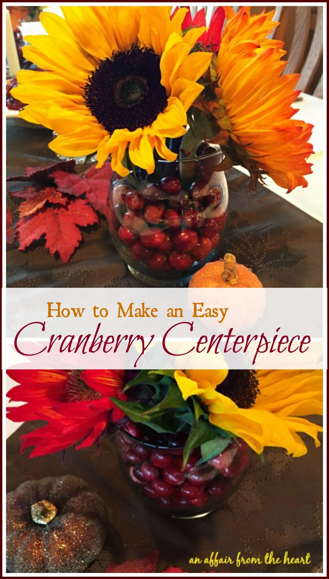 Make Easy Cranberry Centerpiece Affair