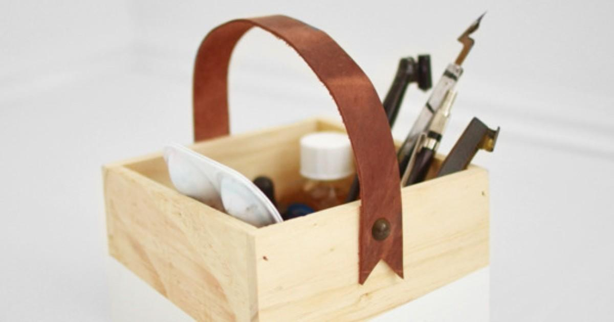 Make Easy Diy Leather Handle Box Man Made