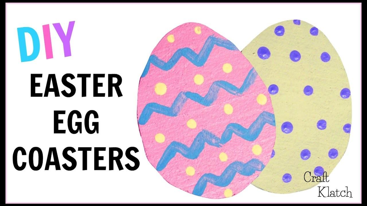 Make Easy Easter Egg Coasters Diy Projects Kids