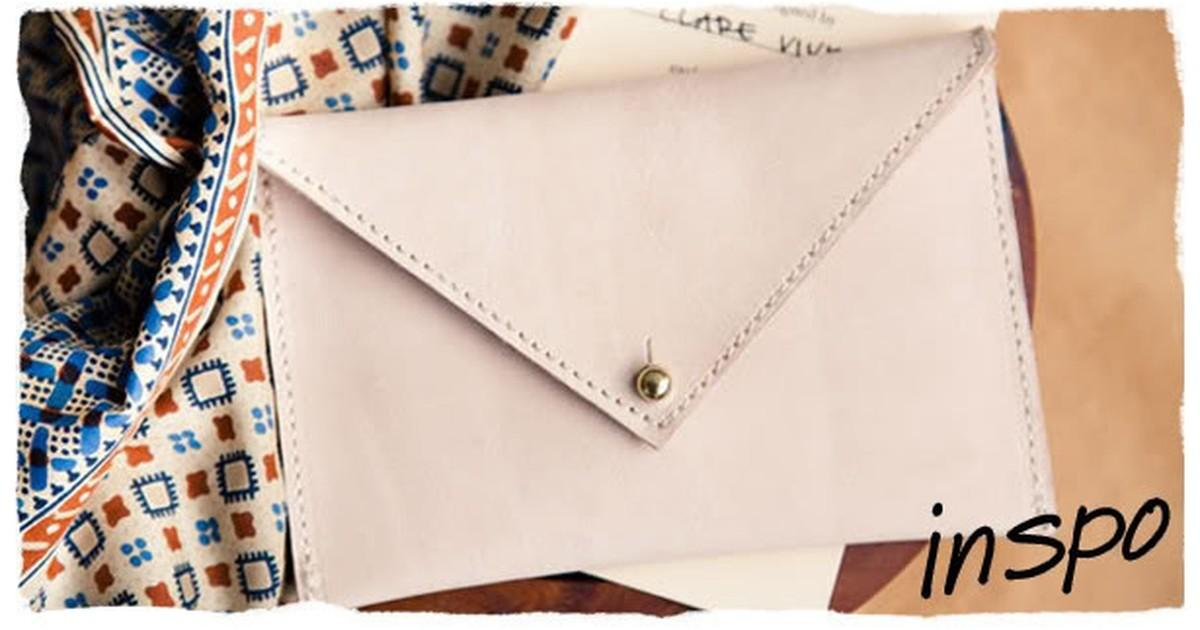 Make Easy Envelope Clutch Curbly