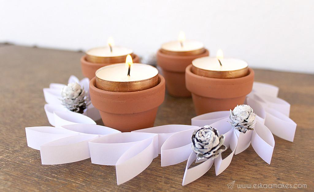 Make Easy Paper Leaf Advent Wreath Kaa Makes