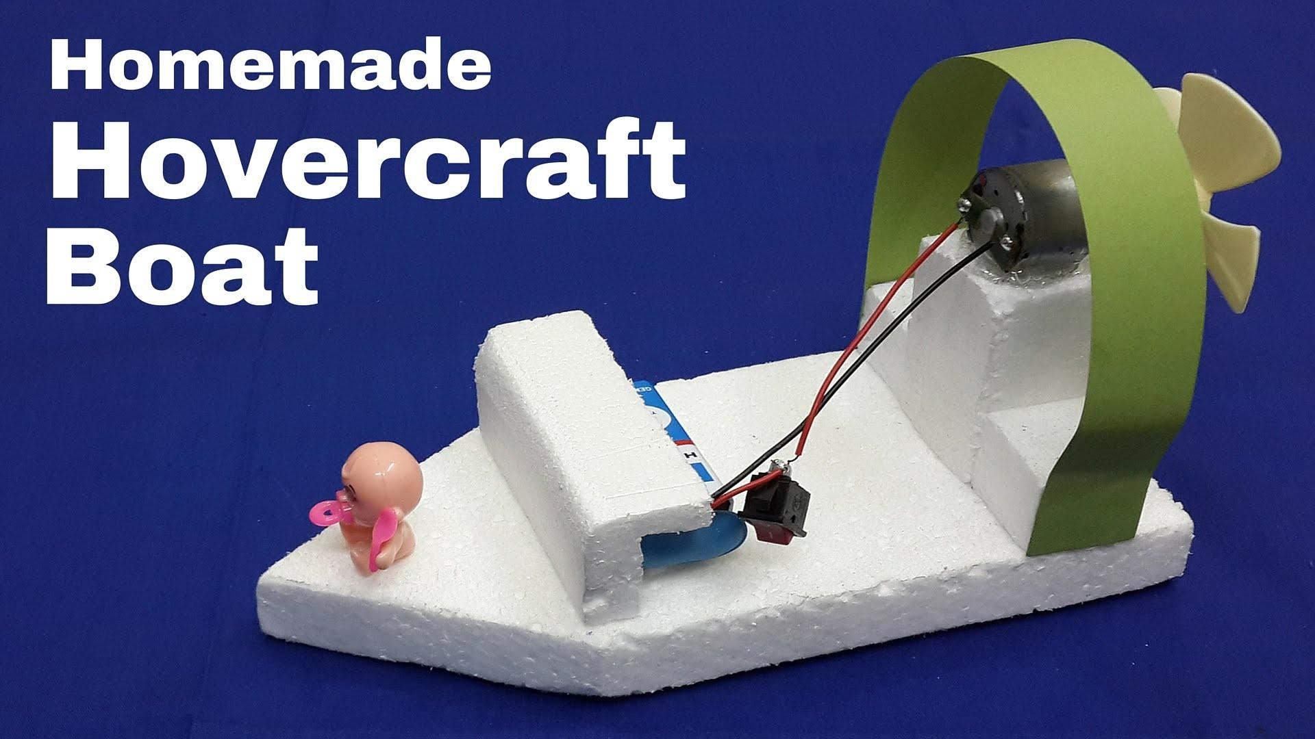 Make Electric Toy Hovercraft Boat Moves