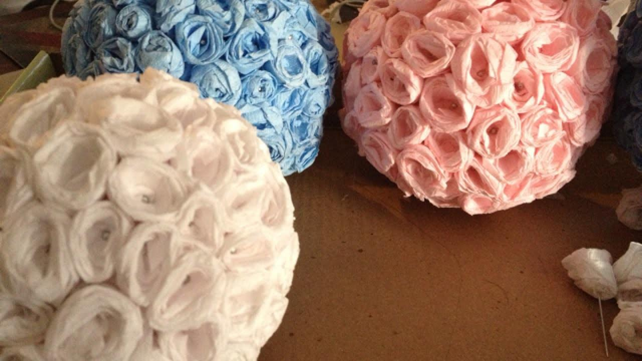 Make Elegant Crepe Paper Flower Balls Diy Crafts