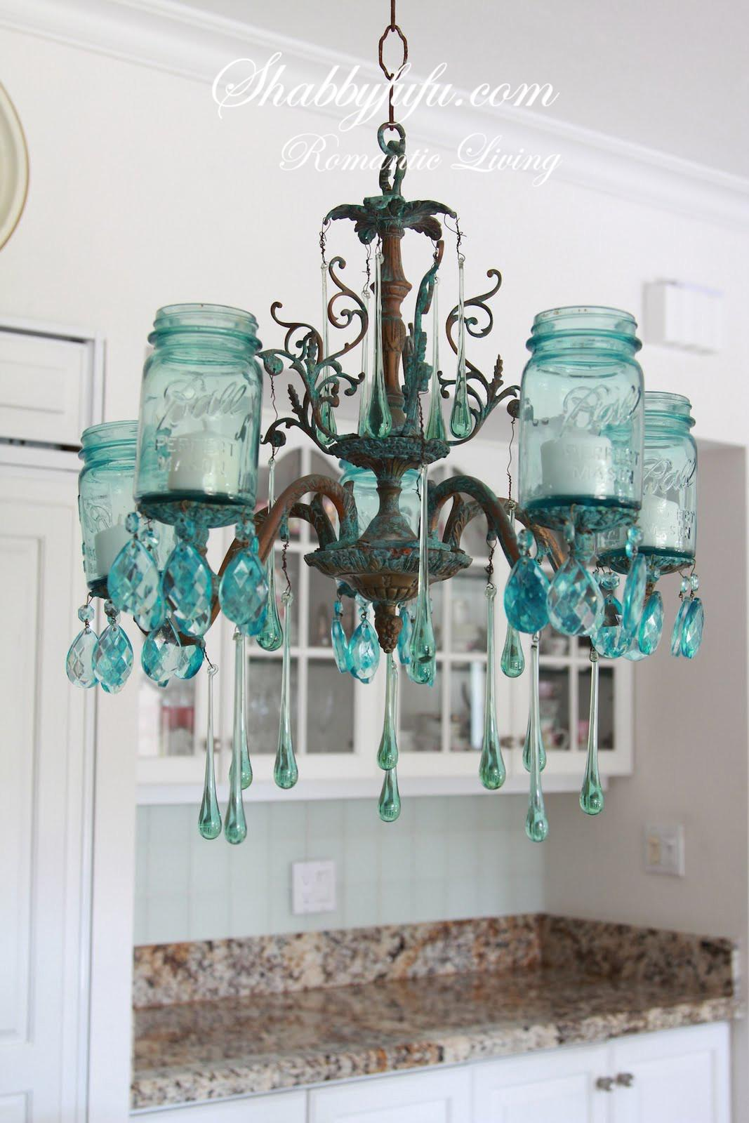 Make Farmhouse Mason Jar Chandelier Shabbyfufu