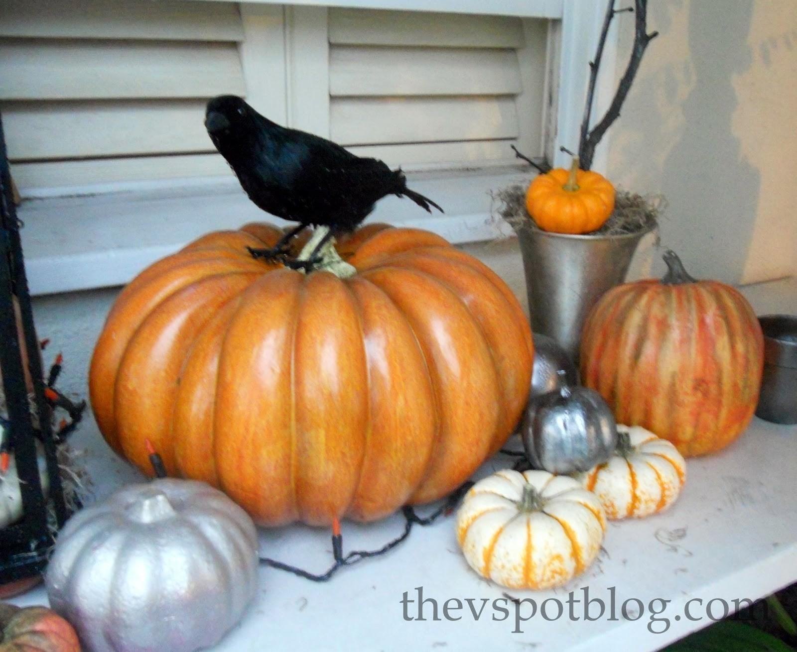 Make Faux Mercury Glass Pumpkins Out Dollar Store