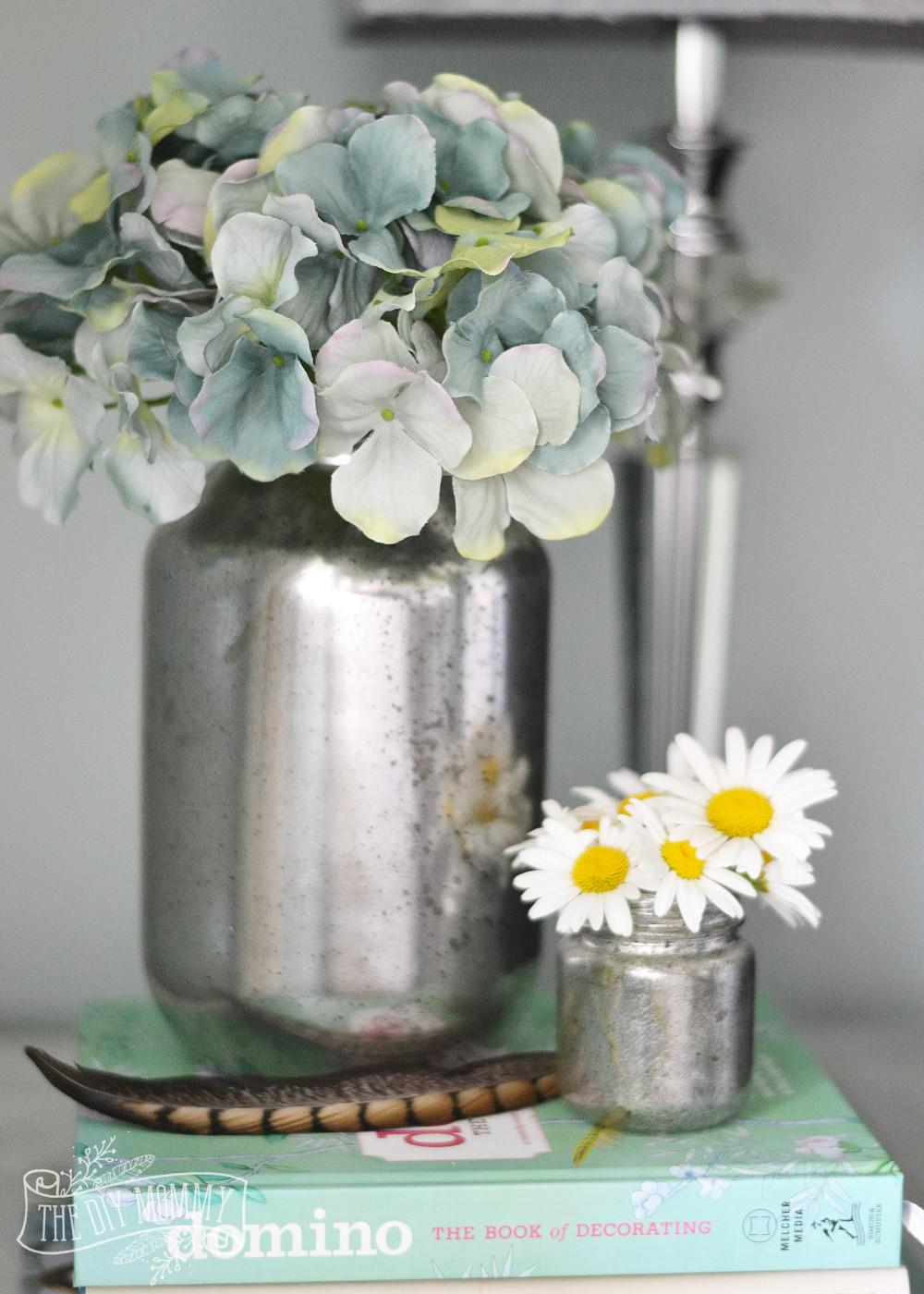 Make Faux Mercury Glass Vases Recycled Jars Diy