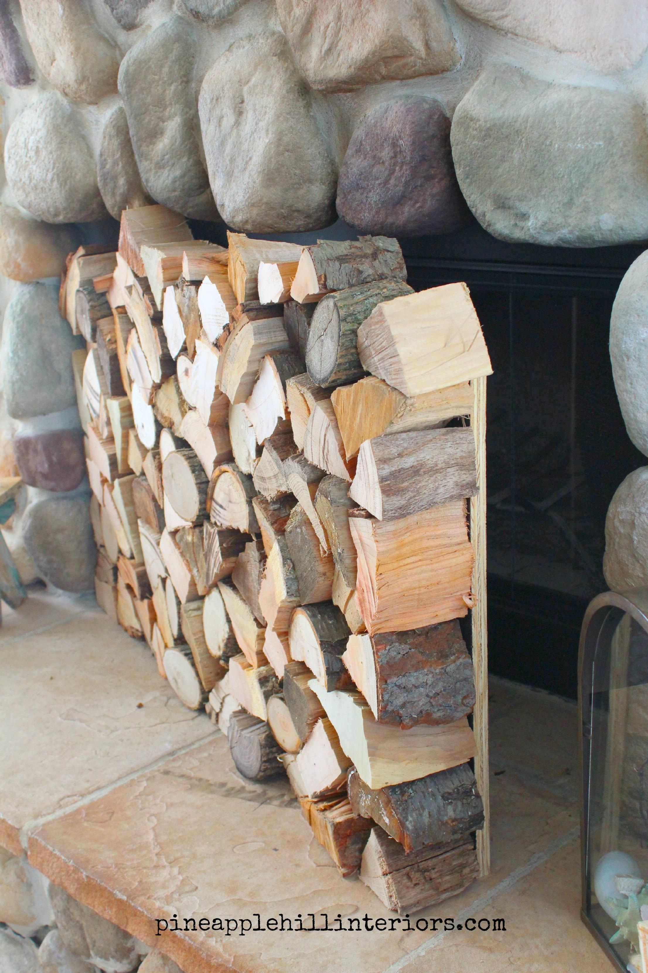 Make Faux Stack Logs Pineapple Hill Interiors