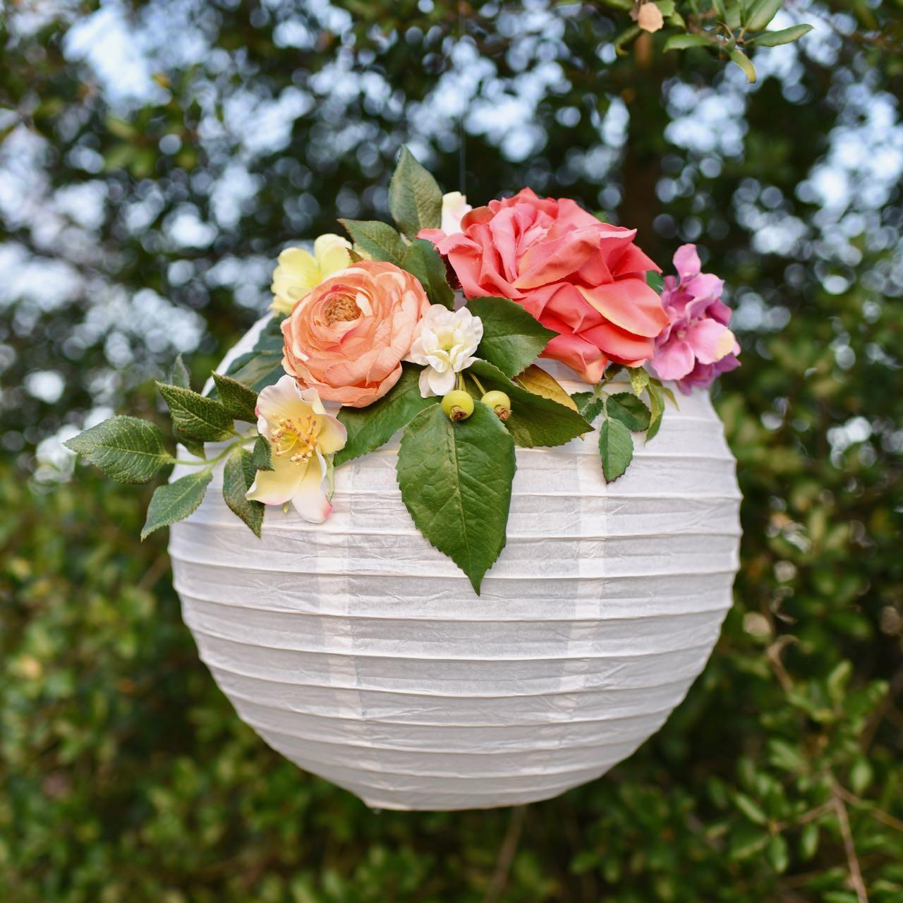 Make Flower Paper Lanterns Arrangements Ideas