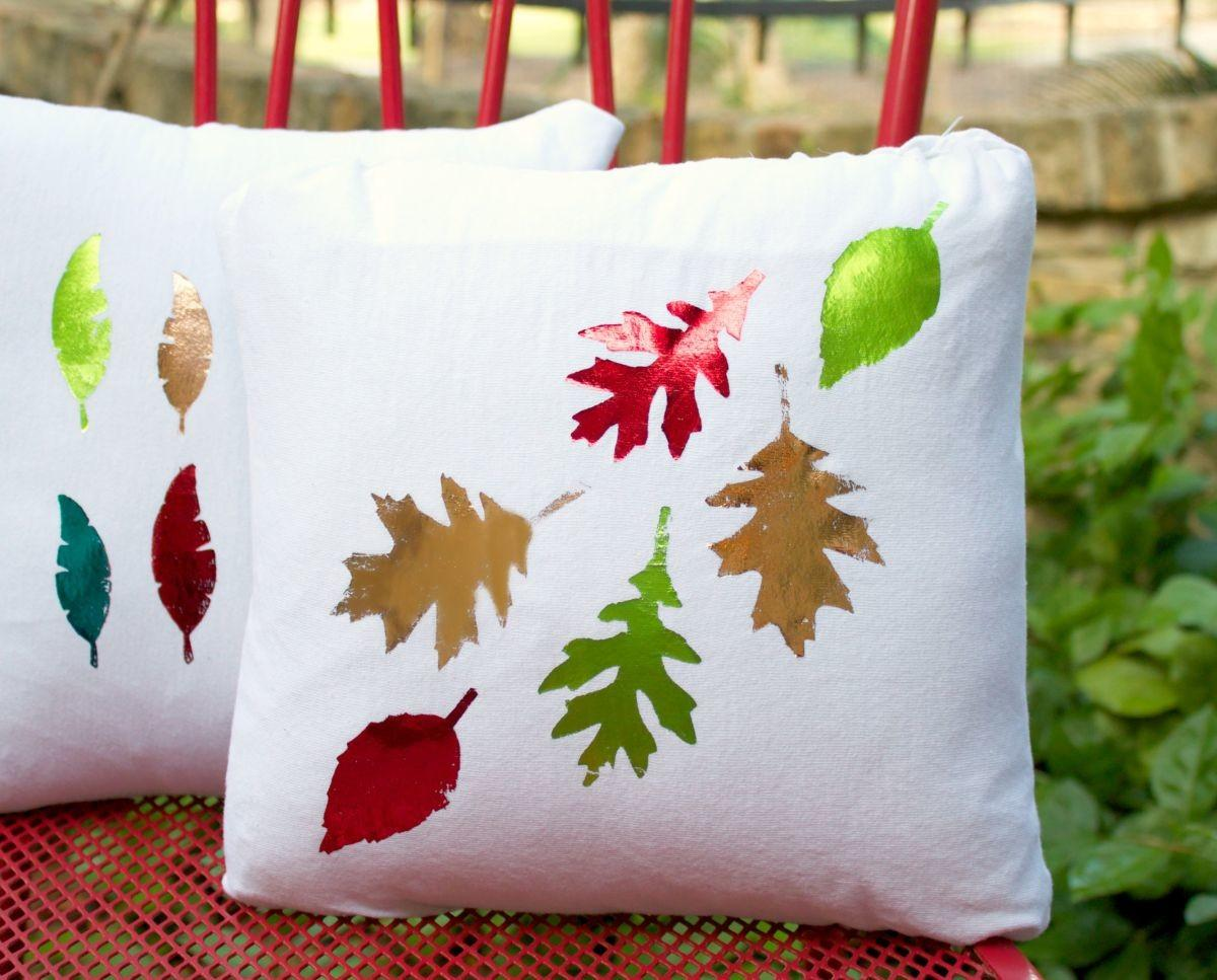 Make Foiled Pillows Fall