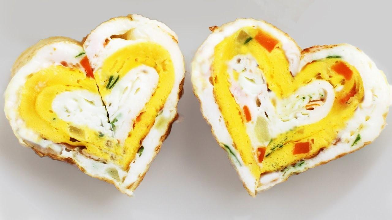 Make Fried Egg Heart Snack