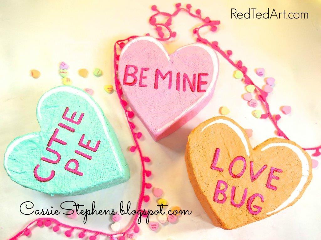 Make Giant Conversation Hearts Valentines Red