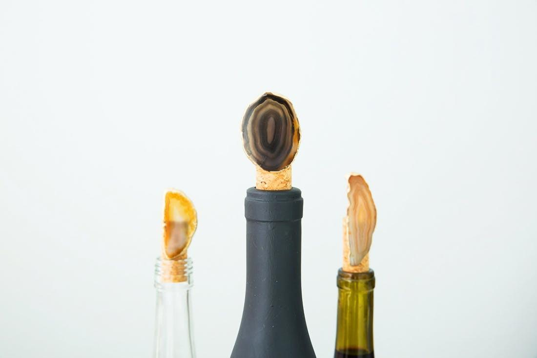 Make Gold Leaf Agate Bottle Stoppers Under