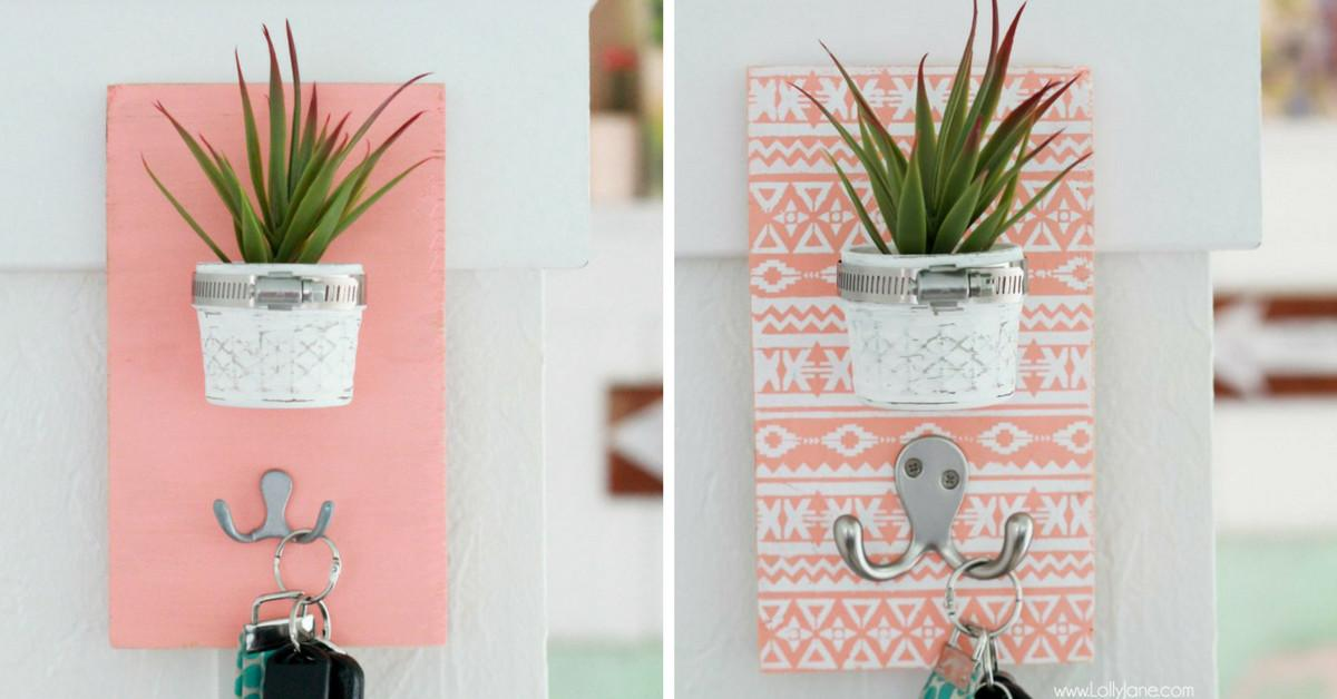 Make Gorgeous Diy Succulent Key Holder