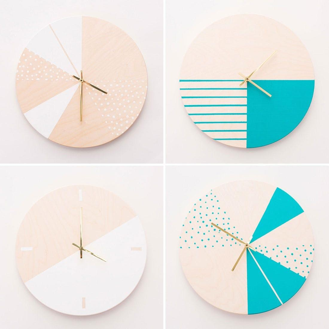 Make Gorgeous Wooden Diy Wall Clocks Brit