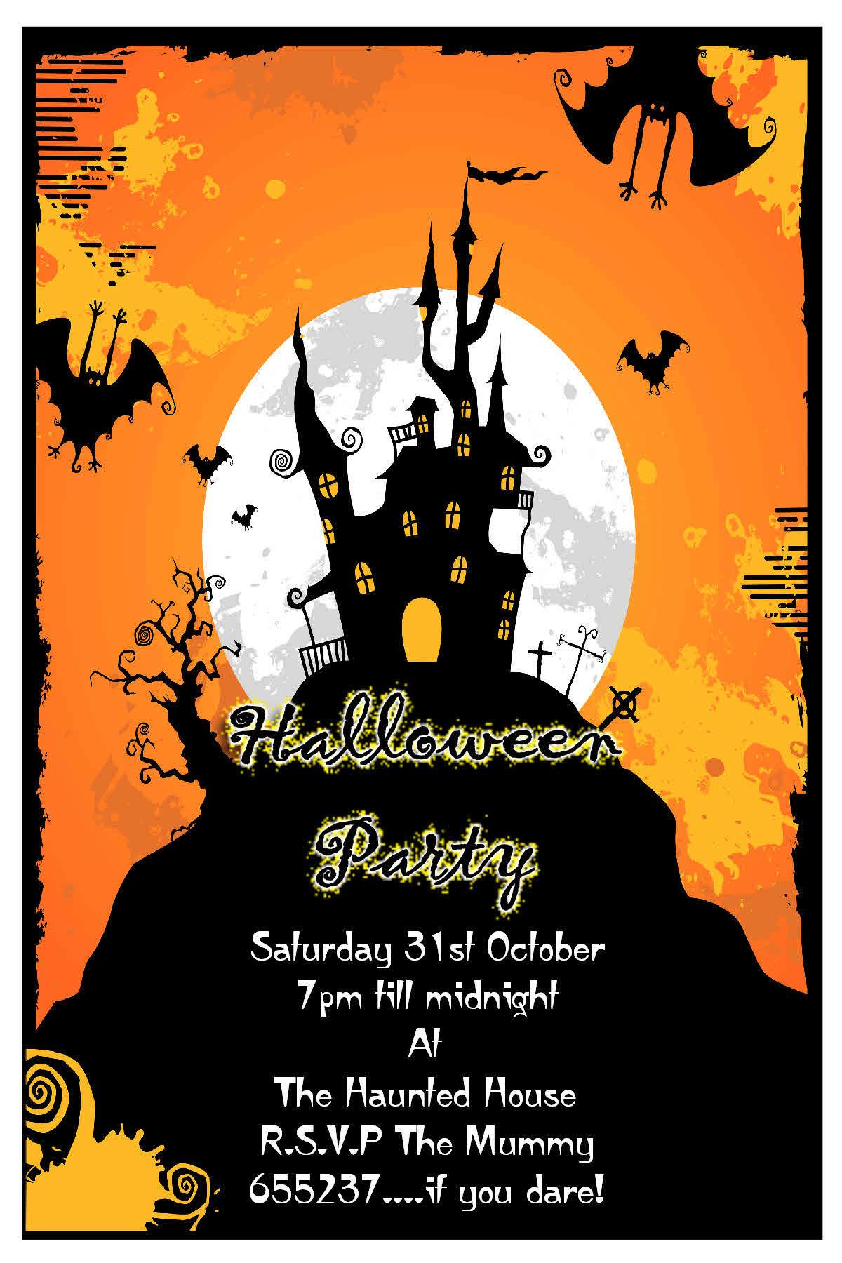 Make Halloween Party Invitations All