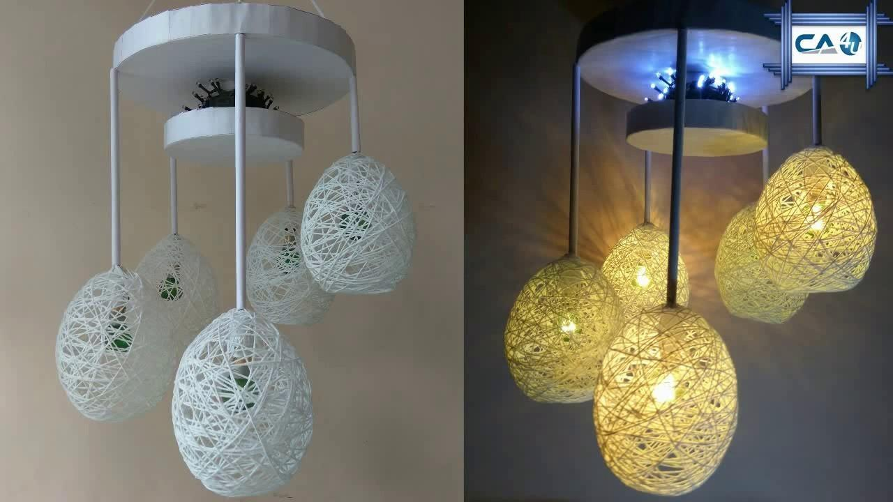 Make Home Made Wrapped Balloon Lamp Easy