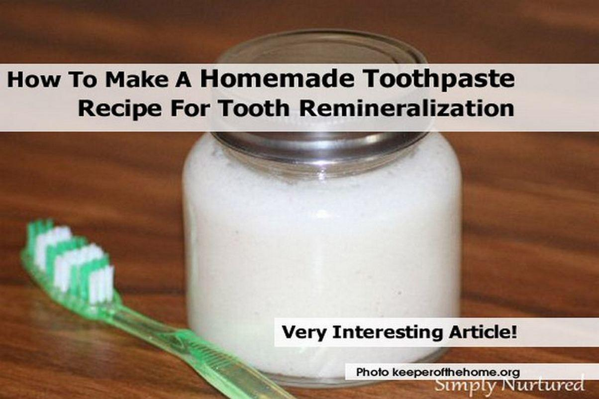 Make Homemade Toothpaste Recipe Tooth