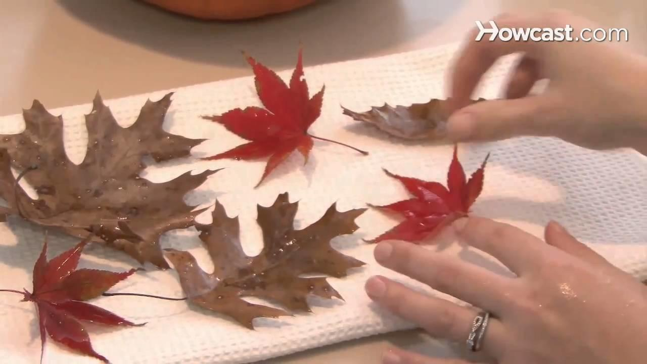 Make House Decorations Autumn Leaves