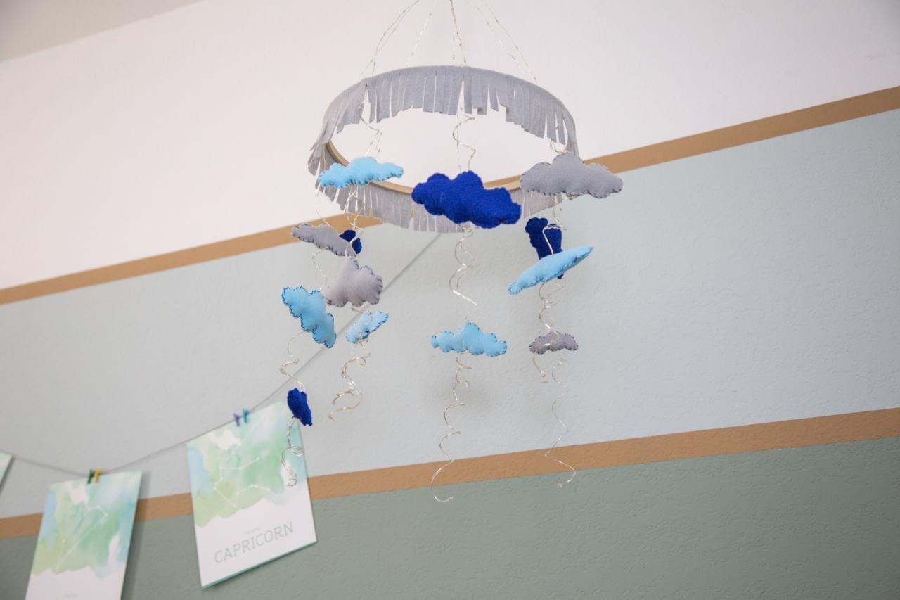Make Illuminated Rain Cloud Mobile Baby