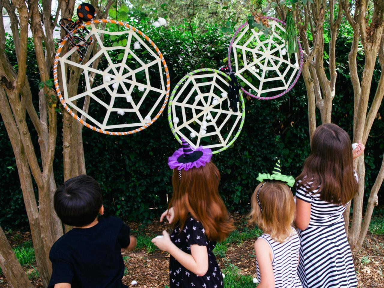 Make Kids Halloween Spiderweb Game Diy