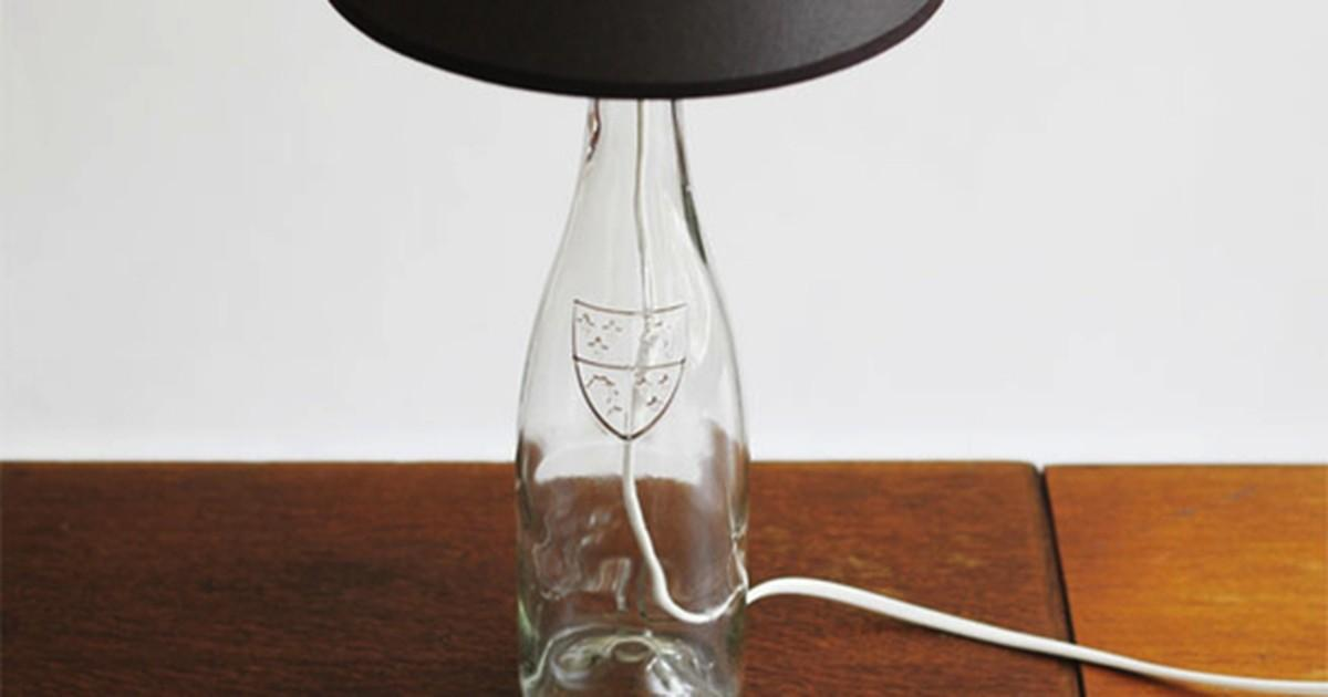 Make Lamp Out Glass Bottle Curbly