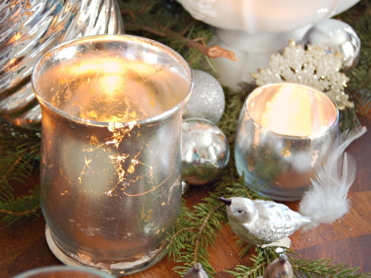 Make Mercury Glass Votives