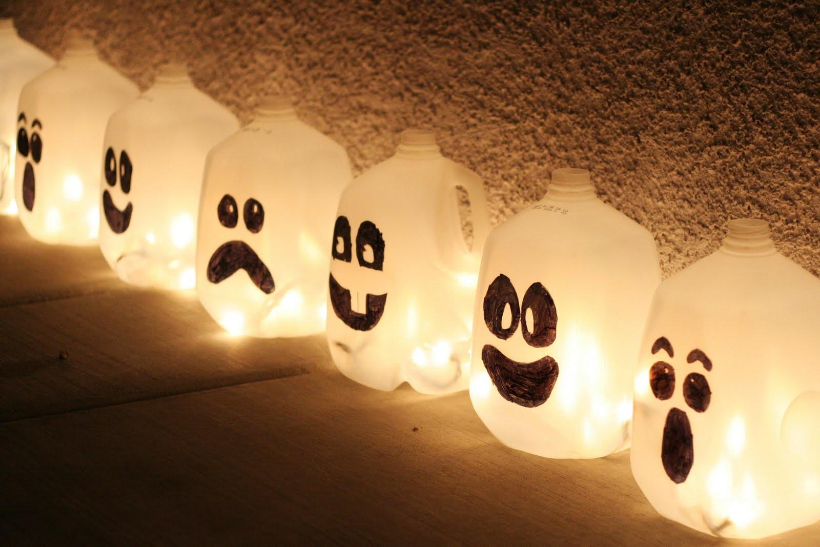 Make Milk Jug Jack Lanterns Dollar Store Crafts