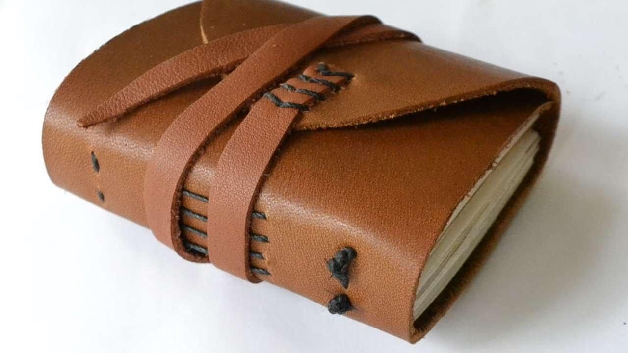 Make Miniature Recycled Paper Leather Journal