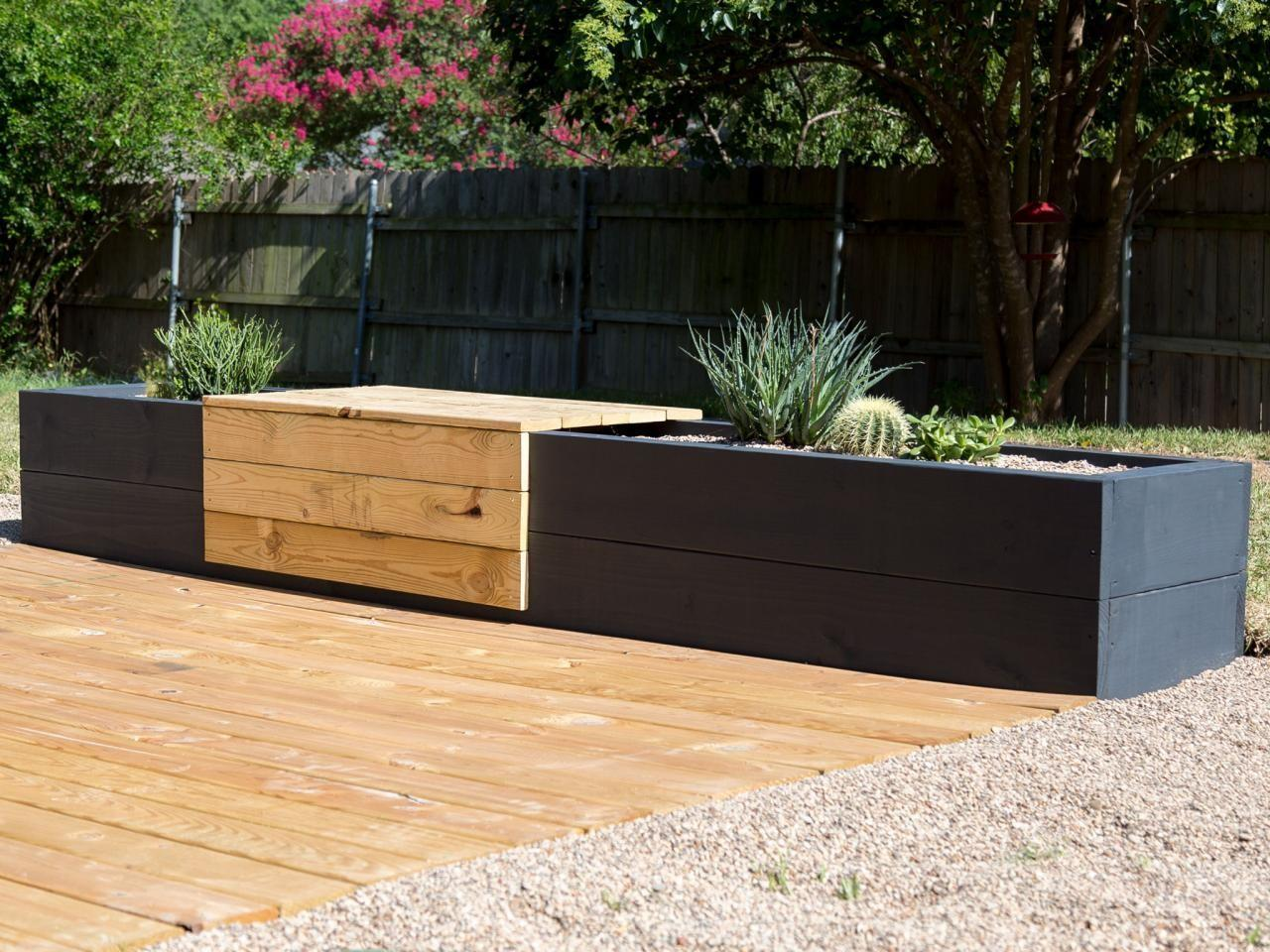 Make Modern Planter Bench Combo