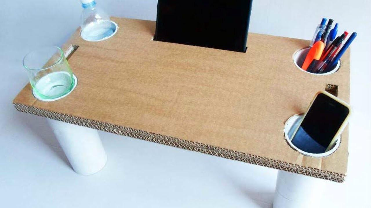 Make Multipurpose Cardboard Bed Table Diy Home