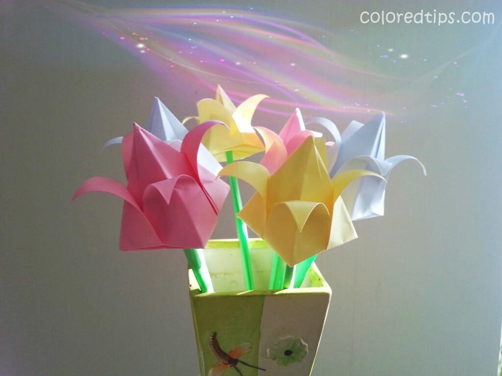 Make Origami Tulip Amazing Paper Tulips