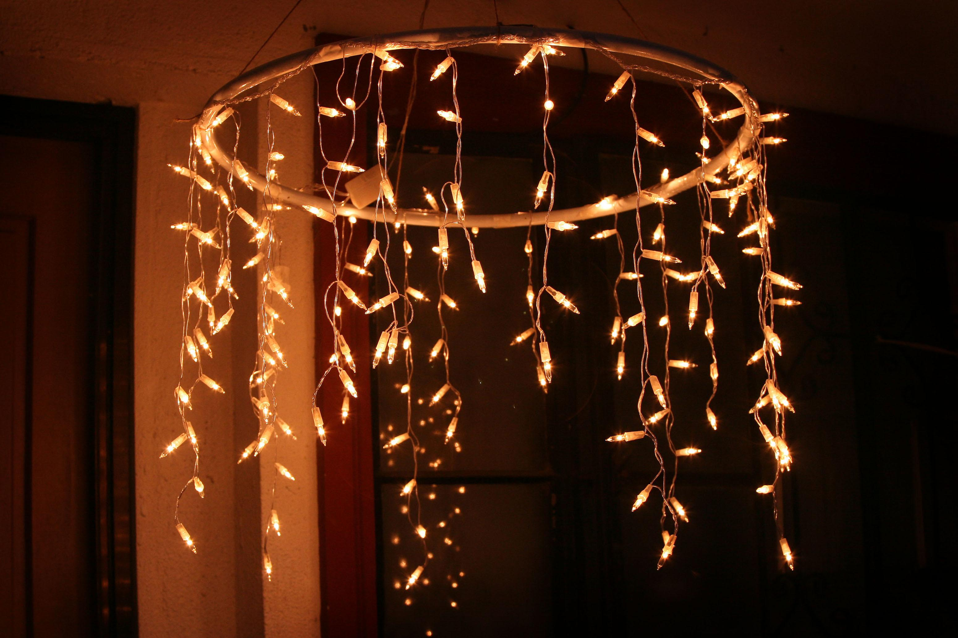 Make Outdoor Chandelier Icicle Christmas Lights