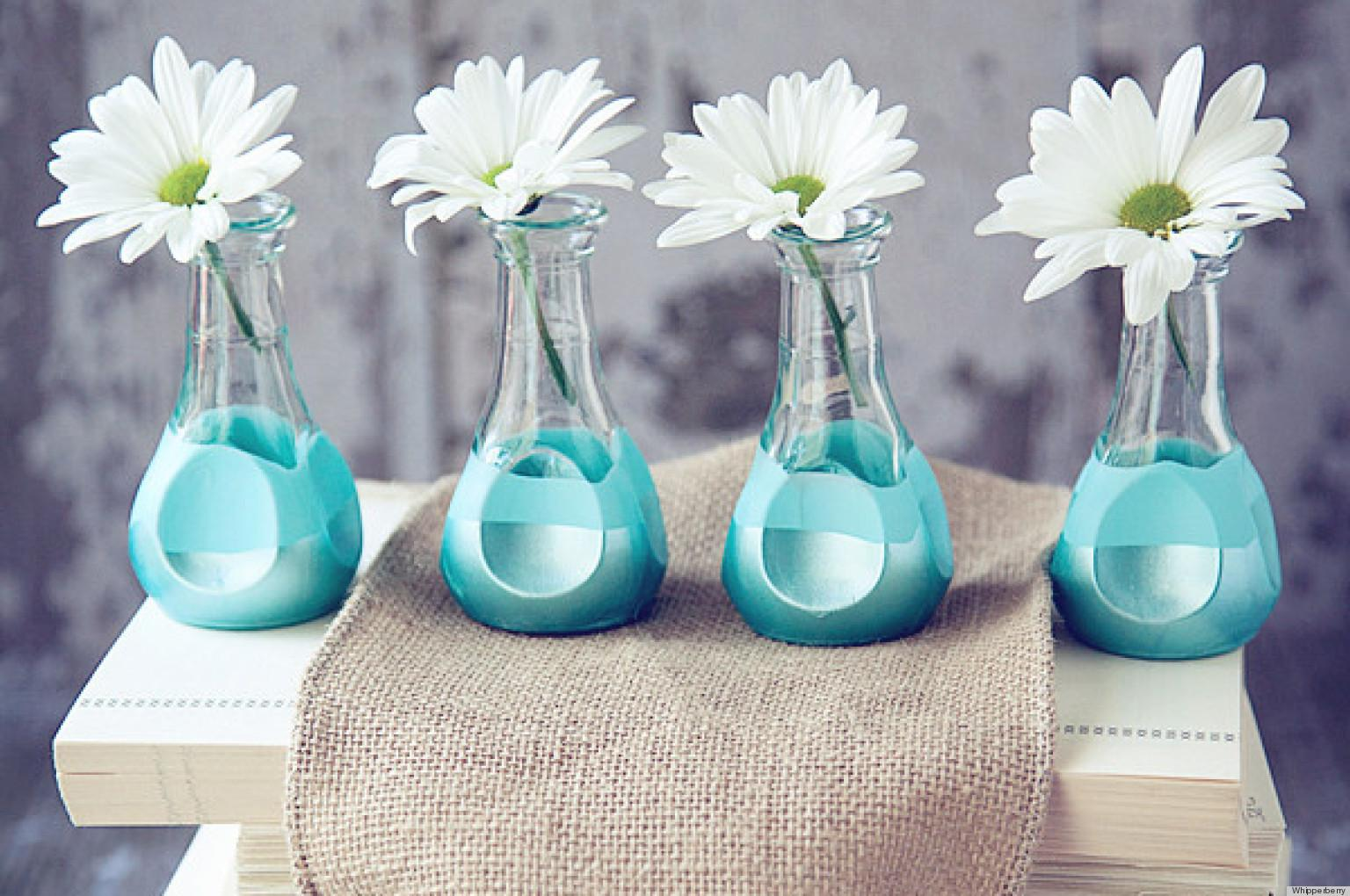 Make Paint Dipped Bud Vases Without Mess Huffpost