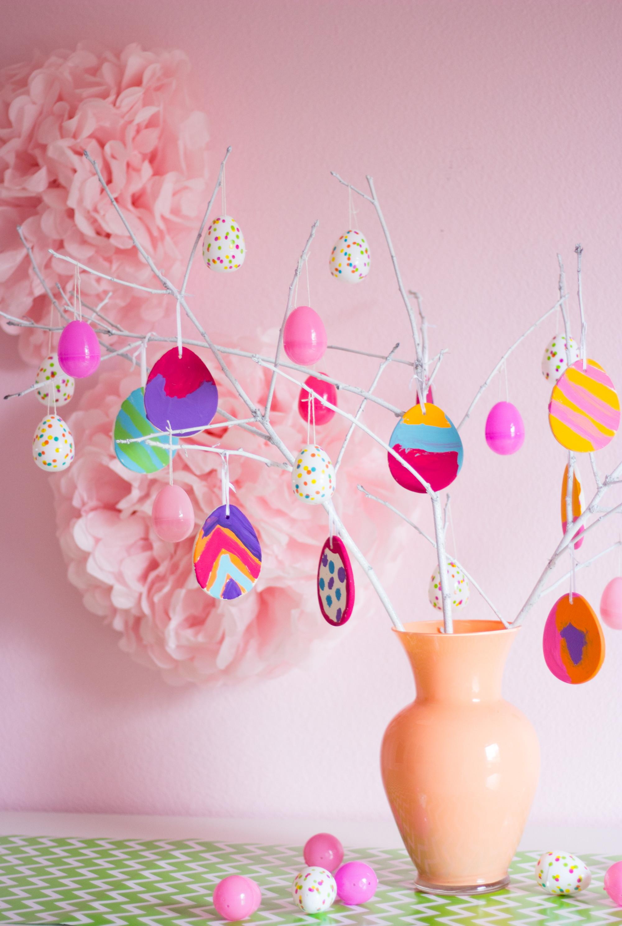 Make Painted Easter Egg Tree