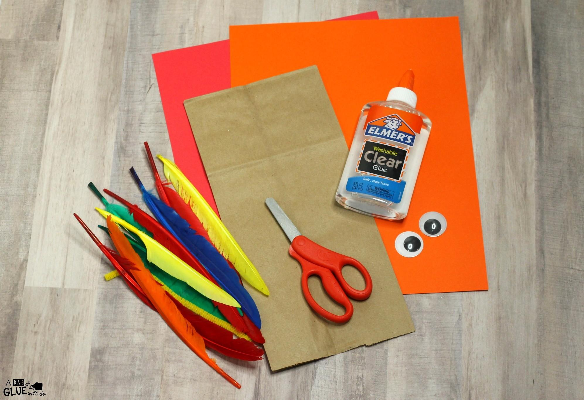 Make Paper Bag Turkey Craft Thanksgiving