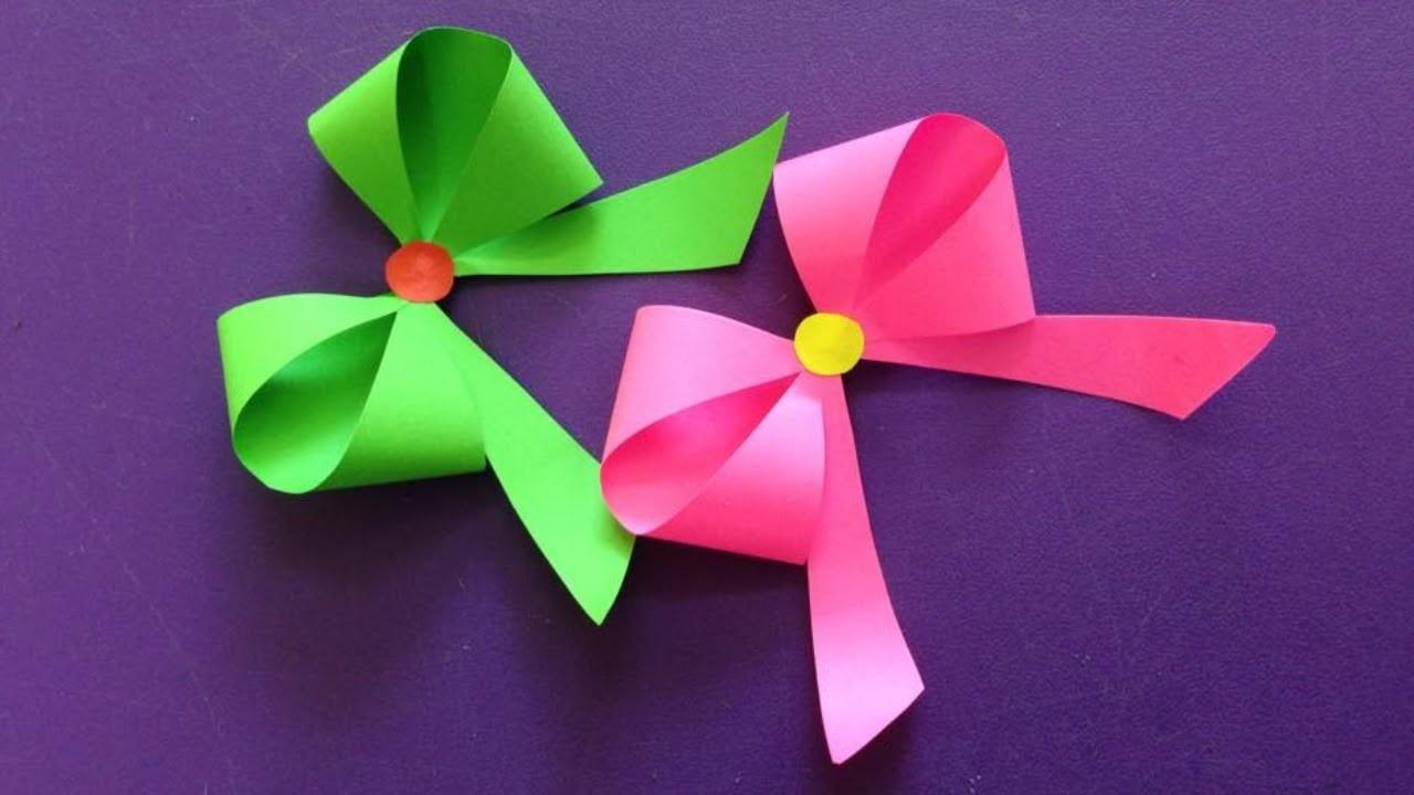 5 Easy paper Bow/ Ribbon gift wrap - Origami Bow for beginners making -  YouTube | 720x1280