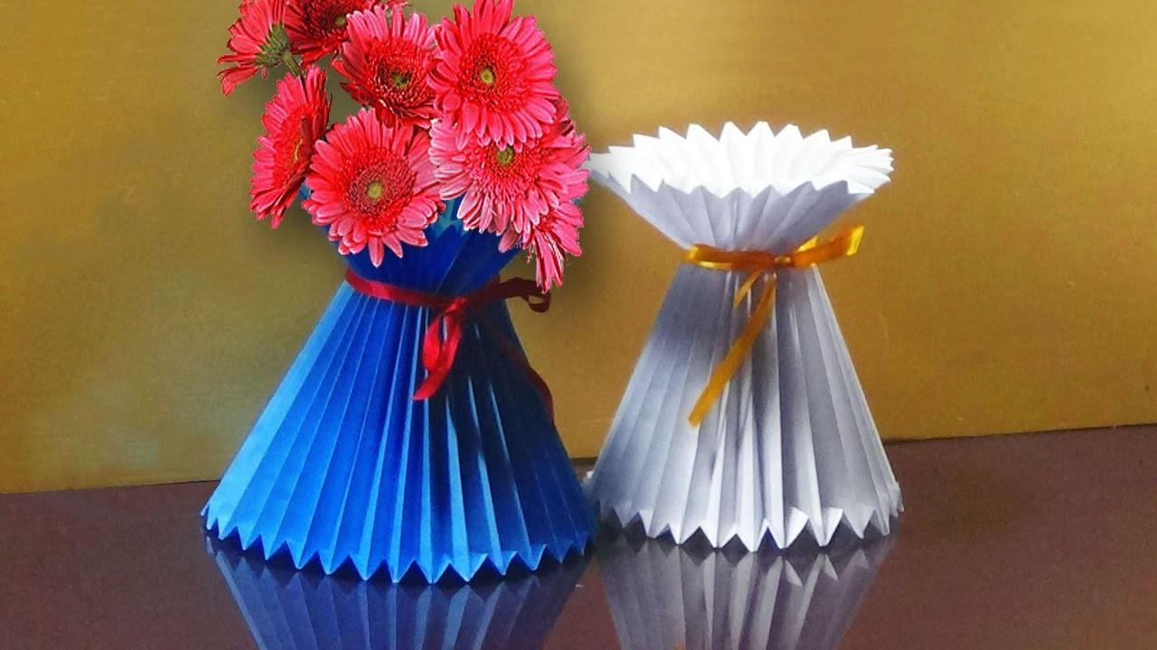 Make Paper Flower Vase Easy Howsto