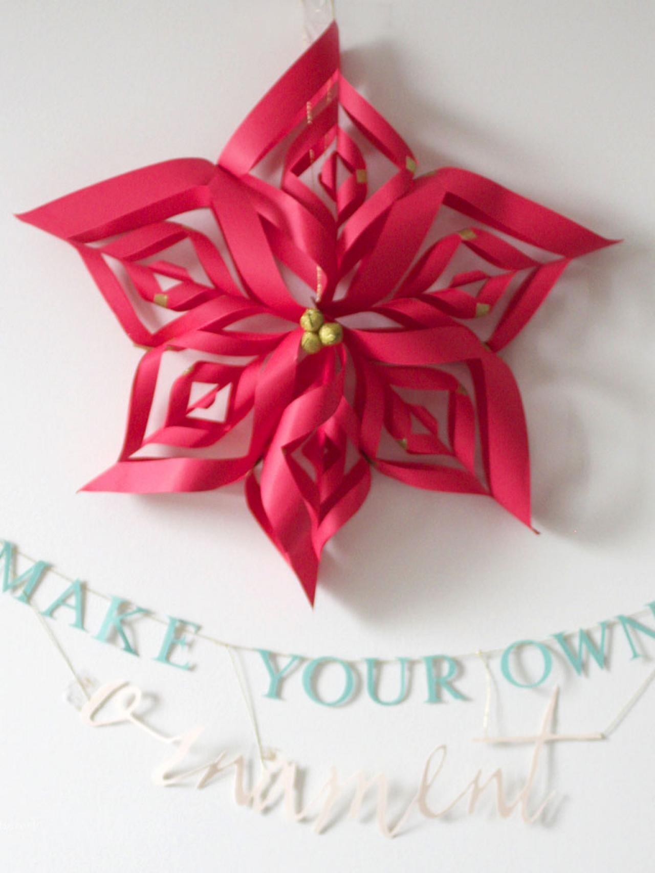 Make Paper Snowflake Star Christmas Ornament